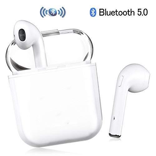 Auricular Bluetooth, Auricular inalámbrico Bluetooth 5.0 Auricular estéreo Micrófono In-Ear Manos Libres Apple Airpods Android/iPhone