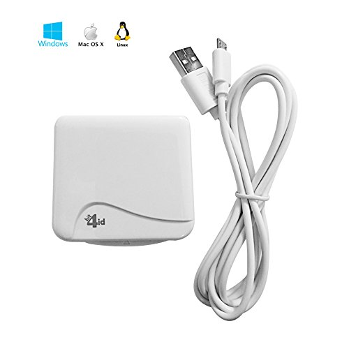 Bit4id minilector Evo Indoor USB 2.0 white Smart Card Reader – Smart Card Readers – Neue Version (USB 2.0, 67 mm, 10 mm, 66 mm, 50 mA, 5 V) (Smart Chip-lesegerät)