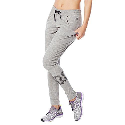 Zumba Fitness U Slim Fit Jersey Pantaloni, Grigio (Thunderin Gray), S
