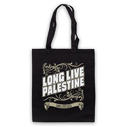 Long Live Palestine Long Live Gaza Umhangetaschen Schwarz