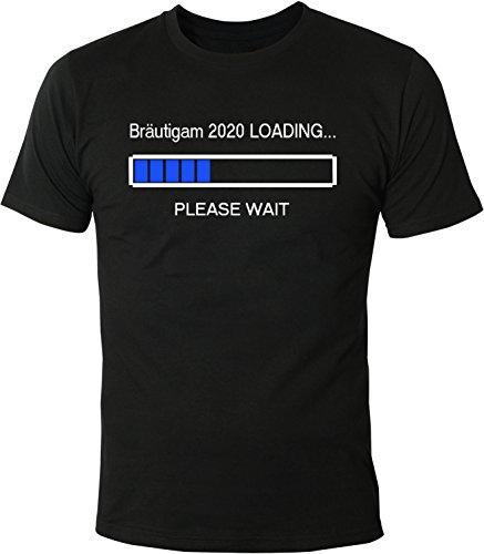 Mister Merchandise Herren Men T-Shirt Bräutigam 2020 Loading Tee Shirt bedruckt Schwarz
