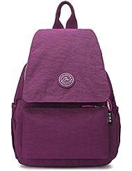 Mochila Bolso Para Mujer Casual,iNeseon Nuevo Simple estilo Oxford Impermeable Multi-bolsillos Luz Mochila Escolares Bolsa