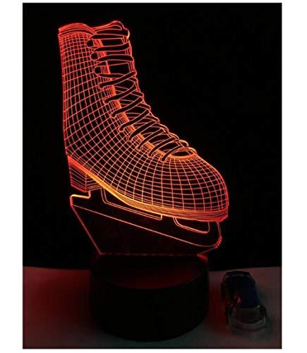 Optische Täuschung 3D Führte Nachtlicht-Tabellen-Lampen-Dekoration-Acrylbrett-Abs-Unterseite Hitzebeständige Geburtstags-Weihnachtsgeschenk-Rochen-Schuhe -