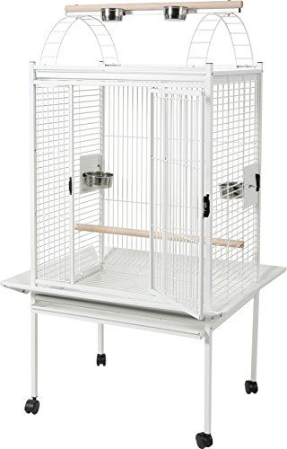 Zolux kubeo Gabbia Pappagallo per Uccello Bianco 96x 96x 170cm