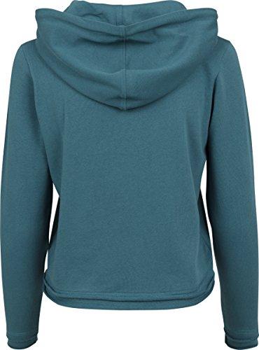 Urban Classics Damen Kapuzenpullover Ladies Cropped Terry Hoody Teal