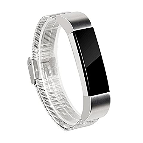 Wearlizer Milanese Loop Band for Fitbit Alta, Smart Watch Replacement