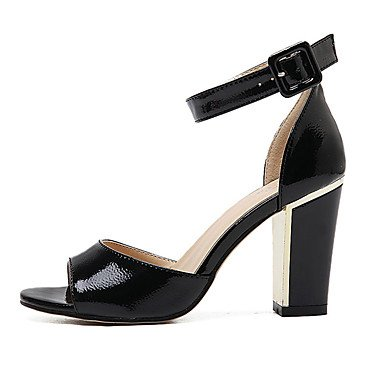 LvYuan Sandali-Formale-Club Shoes-Quadrato-PU (Poliuretano)-Nero Bianco Black