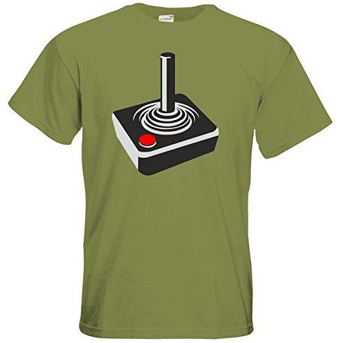 getshirts - Best of - T-Shirt - Retro Gaming - Retro Joystick Green Moss