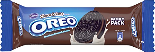 Cadbury Oreo Chocolate Crème Biscuit, 120 gm (Pack of 10)
