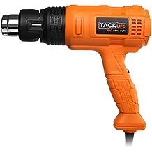 Tacklife HGP70AC, Avanzada, Pistola de Aire Caliente Profesional, Potencia 1800w, Tres Modelos Ajustables (I 50℃ 250L/min; II 450℃ 250L/min; III 550℃ 500L/min)