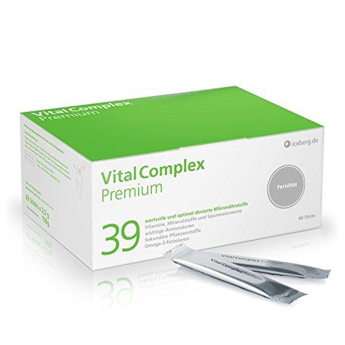 VitalComplex Premium - 39 hochdosierte Mikronährstoffe für eine Normalisierung der Spermabildung z.B bei Kinderwunsch - Folsäure 600µg, Selen 150µg und L-Ariginin - hoch bioverfügbar