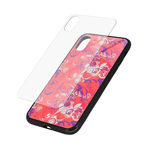 YESLIY Orange Crush Hartglas-Hülle für iPhone XS/X X Glasrückseite [ahmt die Glasrückseite des iPhone nach] + weicher Silikonstoßdämpfer [Stoßdämpfung] für iPhone 5,8 Zoll