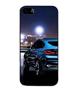 PrintVisa Designer Back Case Cover for Apple iPhone SE (Road Photograpy Passion Speed Thrill Luxury Automatic)