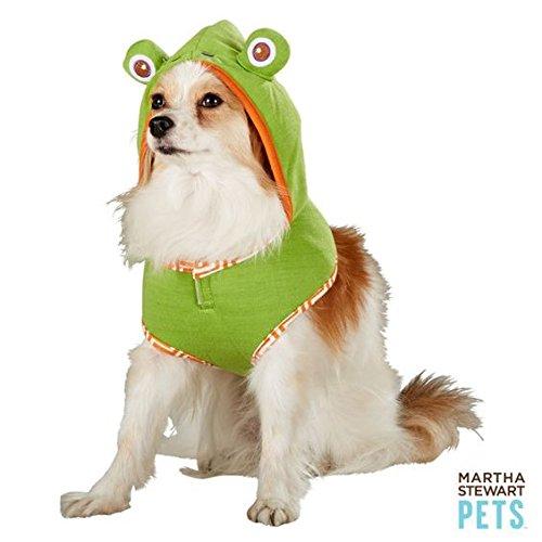 Martha Stewart Pets Frosch Hoodie Geschirr Halloween Hund Kostüm (Frosch Hoodie Kostüm)