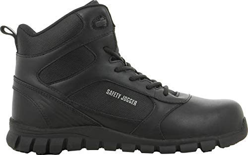Sicherheits-Jogger Dragon Sicherheitsschuhe, Größe 43, Schwarz Mid Cut Hiker Boot