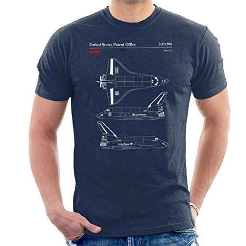 fdghjdyjdty Endeavour Shuttle Top And Side View Blueprint Men's T-Shirt XXXL