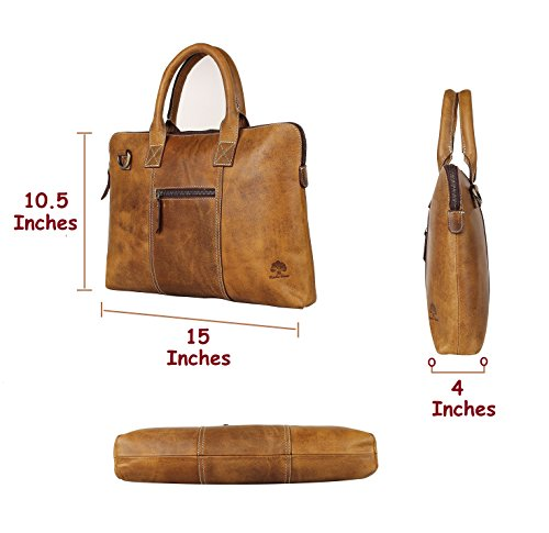RusticTown , Borsa Messenger  marrone Brown small Brown
