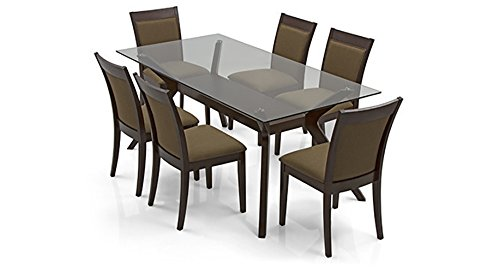 Urban Ladder Wesley Dalla Six Seater Dining Table Set (Mahogany)