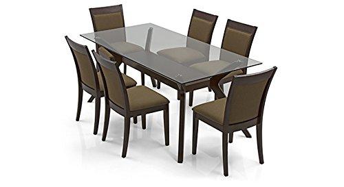 Urban Ladder Wesley Dalla Six Seater Dining Table Set (Mahogany)