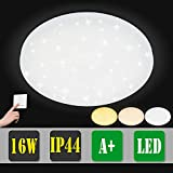 Vingo® 16W LED Plafoniera Cambia colore 3in1 Effetto luce Stellare Splendidamente tondo Corridoio Lampada da Soffitto Lampada a Parete Bagno Adatto