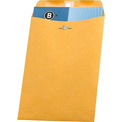 Business Source BSN36661 Schlie-e Umschl-ge-- 28 - 6-.50in.x9-.50in -. Brown Kraft