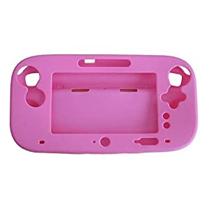 OSTENT Soft-Silikon-Full-Protection-Gel-Tasche Cover-Hülle kompatibel für Nintendo Wii U Gamepad Farbe Pink