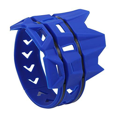 Vosarea Universeller Auspuffschutzring für Off-Road-Motorräder (Blau)