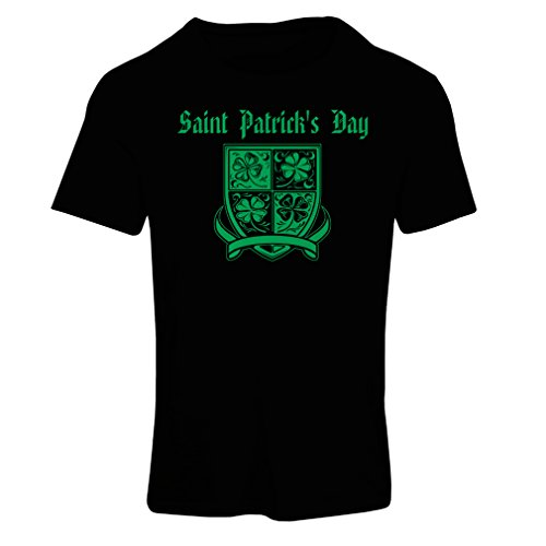 Frauen T-Shirt Saint Patrick's day Shamrock symbol - Irish party time (Medium Schwarz Mehrfarben)