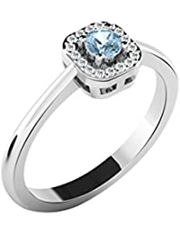 His & Her 18KT White Gold, Diamond And Sapphire Ring For Women
