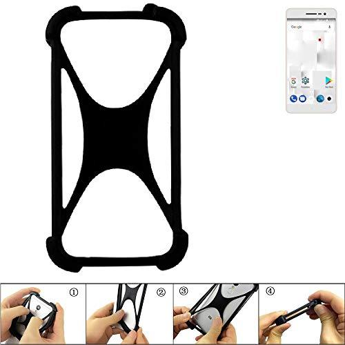 K-S-Trade Handyhülle für Thomson Delight TH201 Schutz Hülle Silikon Bumper Cover Case Silikoncase TPU Softcase Schutzhülle Smartphone Stoßschutz, schwarz (1x)