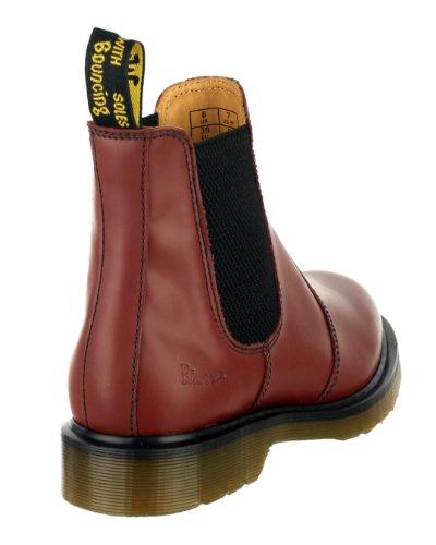Dr.Martens 2976-59 Chelsea Dealer Hommes cuir Bottes de sécurité Chaussures Cerise
