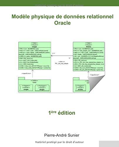 Modèle physique de données relationnel: Oracle par  Pierre-André Sunier
