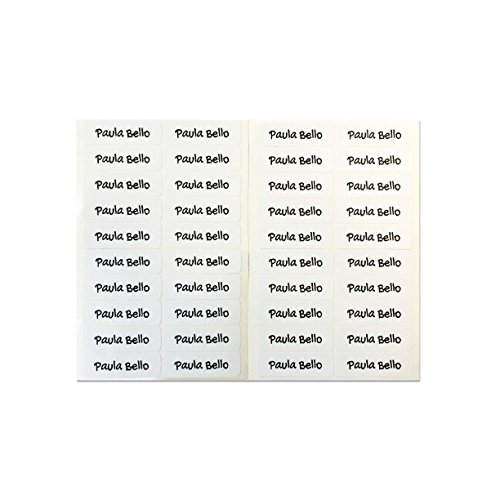 50 etichette adesive personalizzate per quaderni, libri e materiale scolastico. misura 6 x 2 cm. bianco