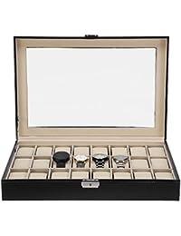 Zogin Scatola Porta Orologi con 24 Scompartimenti per Tenere gli Orologi in Ordine …