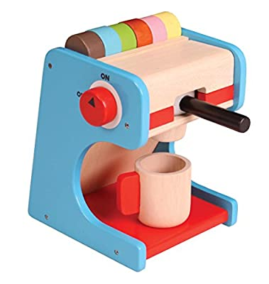 Wooden Coffee Machine Set - Includes Pretend Coffee Pods from NJoykids