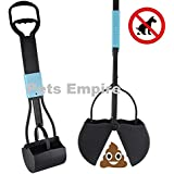 Pets Empire Long Handle Pet Dog Waste Pickup Poop Scooper Tool Easy Pickup Poop Grabber Poo Remover With Spring 1Piece Color May Vary
