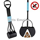 #7: Pets Empire Long Handle Waste Pickup Poop Scooper Tool with Spring (Colour May Vary)