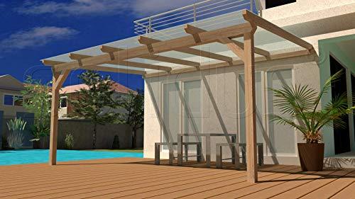 Leimholz Terrassenüberdachung 500x500