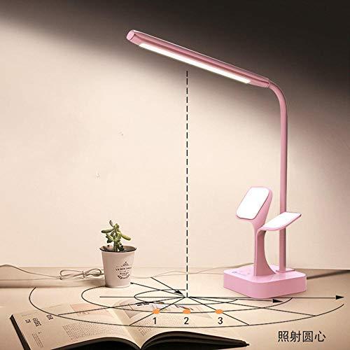 Led augenschutz leselampe schlafzimmer bett halterung student touch kleine tischlampe, rosa -