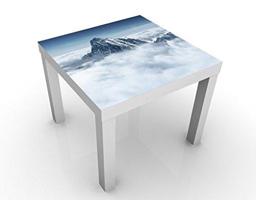 Apalis 46134–276712 Design Table Les Alpes sur Les Nuages, 55 x 55 x 45 cm