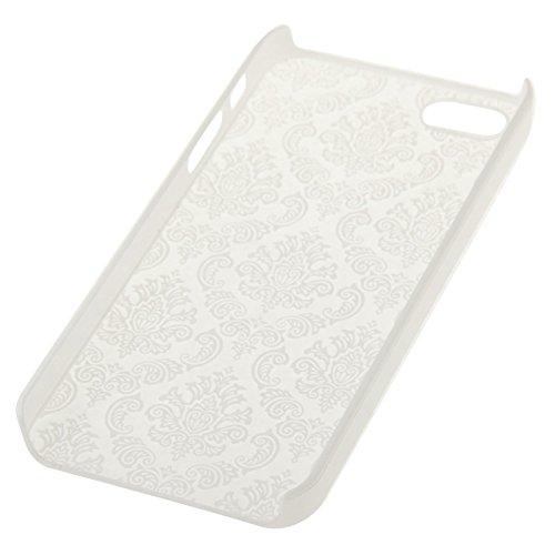 Retro Palast prägeartiges Blumen-Beschaffenheits-Muster-schützende harte Fall-Abdeckung für iPhone 5 u. 5S u. SE by diebelleu ( Color : Red ) White