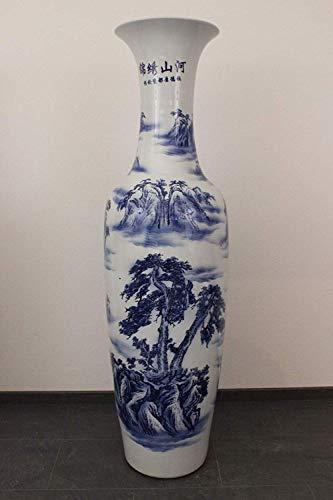 Asien Lifestyle Große Bodenvase (161cm) China Porzellan chinesische Vase handbemalt