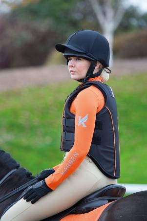Shires Adults Karben Body Protector Medium - Short Black - Pferd Protector Body