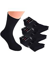 10 bis 100 Paar schwarze Damen- & Herren Socken ohne Gummi 100% Baumwolle, Business-Socken handgekettelt ohne Naht, auch für Diabetiker geeignet, Markenware Cocain Gr. 35 bis 50 lieferbar