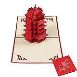 JSGJHK Architektur-dreidimensionale Grußkarte 3D Papier-schnitt Postkartenstadt-Schattenbild charakteristische Art-Glückwunschkartengrußkarte, China