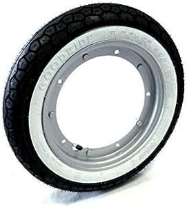 Komplett Set Mit Reifen Weiß Und Luftkammer Größe 3 50 X 10 Zoll Vespa Px 125 150 200 Vespa Sprint Vespa Gl Vespa Gt Gtr Vespa Ts Vespa Rally Auto