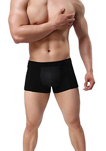 Herren der antimikrobiellen therapie unterwäsche magnete gesundheit boxer shorts AOQIANG 3er Pack (Gut, Leben Baumwolle Das Boxer Ist)