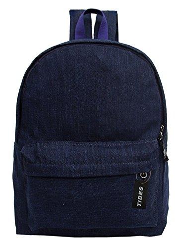 Tibes leichter Rucksack für die Schule Hellblau (Vans Denim-rucksack)