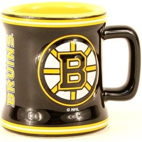 Boston Bruins NHL Licensed Sculpted Ceramic Mini Mug Style Shot Glass (2 Oz.) by Boelter