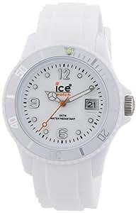 ICE-Watch - Montre Mixte - Quartz Analogique - Ice-Forever - White - Unisex - Cadran Blanc - Bracelet Silicone Blanc - SI.WE.U.S.09
